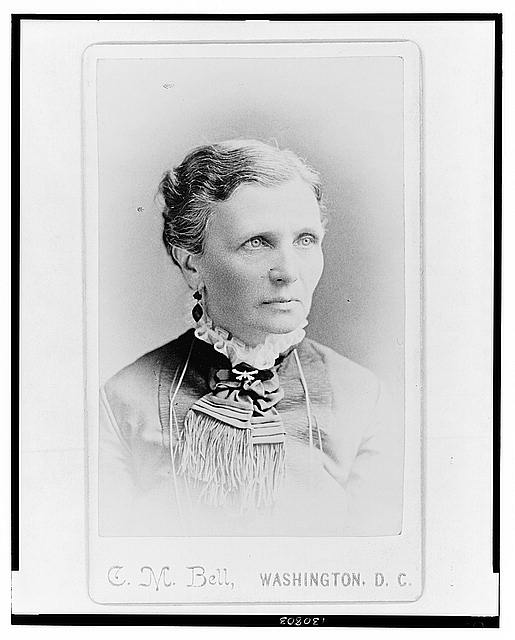 [Emmeline B. Wells, women's rights advocate, head-and-shoulders portrait, facing right]