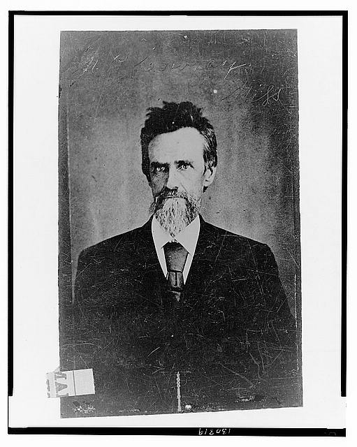 [Mark P. Lowrey, of Miss., pastor and Brigadier General, C.S.A., half-length portrait, facing front]