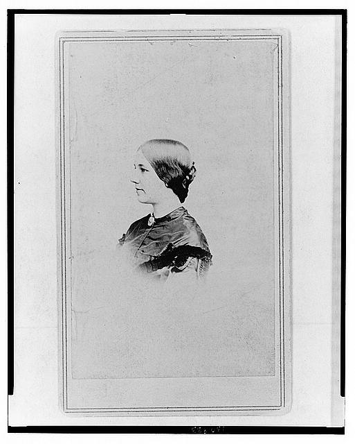[Elizabeth Powell Bond, head-and-shoulders portrait, facing left]