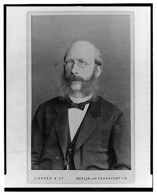 [Ludwig Wittmack, German botanist, half-length portrait, facing left]