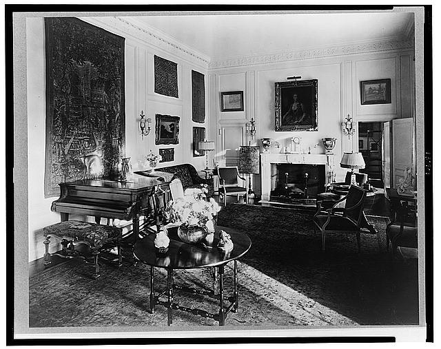 "[""The Causeway,"" James Parmelee house, 3100 Macomb Street, Washington, D.C. Interior, living room]"