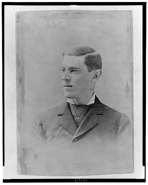 [Woodrow Wilson, head-and-shoulders portrait, facing left]