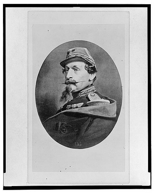 [Napoleon III, head-and-shoulders portrait, facing left]
