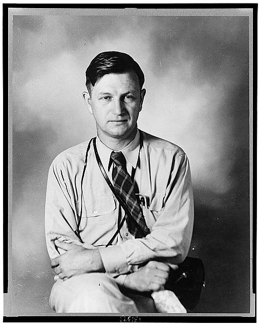 Portrait of Russell Lee, FSA (Farm Security Administration) photographer