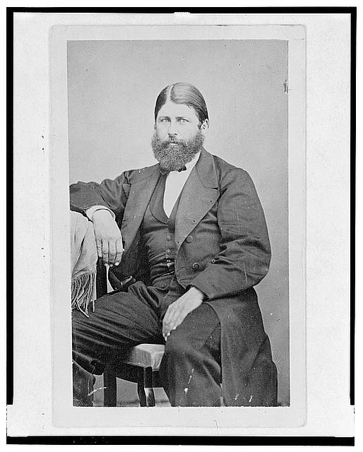 [Colonel Paulino Lamadrid, three-quarter length portrait, seated, facing front]