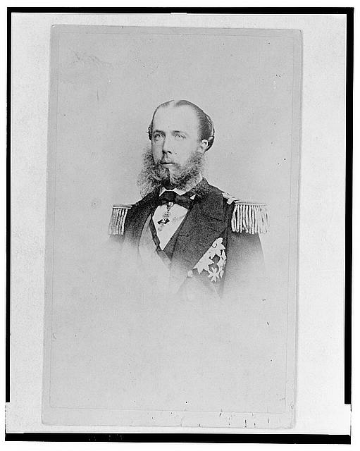 [Maximilian, Emperor of Mexico, head-and-shoulders portrait, facing front, in Trieste, Austria (now Italy)]