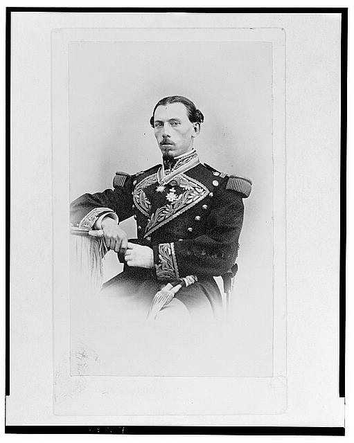 [General Toboado half-length portrait, seated, facing front]