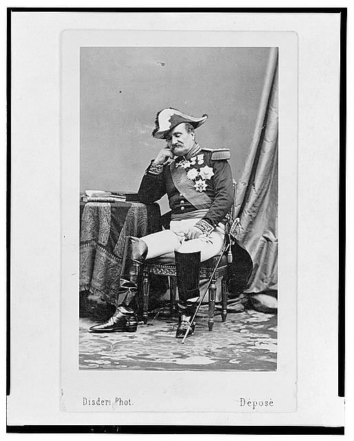 [General Louis Forey, commander-in-chief of French troops in Mexico, full-length portrait, seated, facing left]