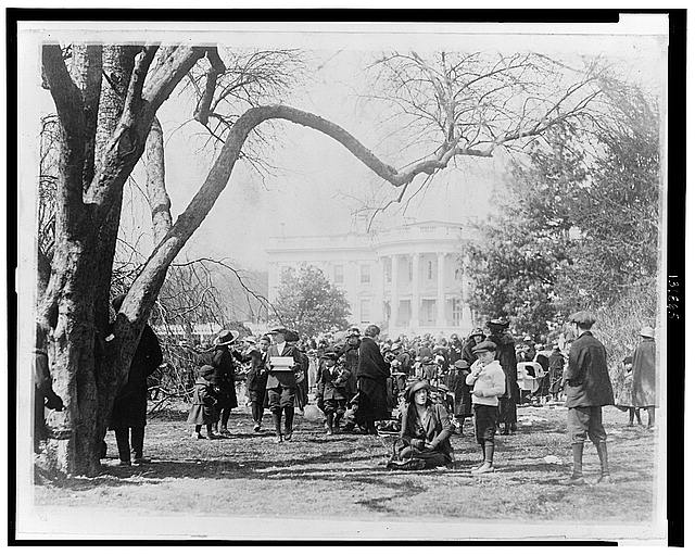 Easter egg rolling on the White House lawn