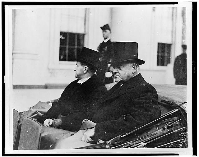 Mr. Coolidge takes a last look at the White House