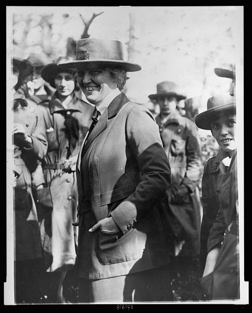 Mrs. Herbert Hoover, wife of the Secty of Commerce, is President of the Girl Scouts of America