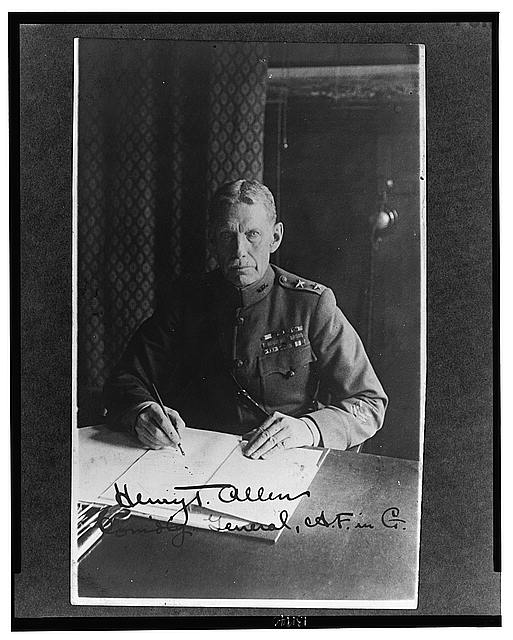 Henry T. Allen, Comanding General, A.F. in Co.