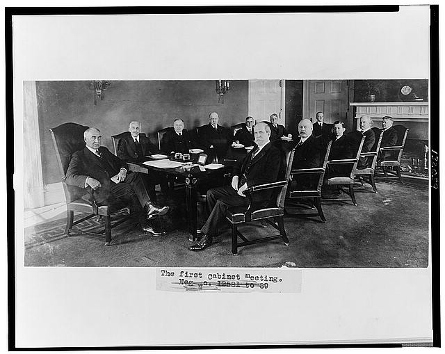 The first cabinet meeting