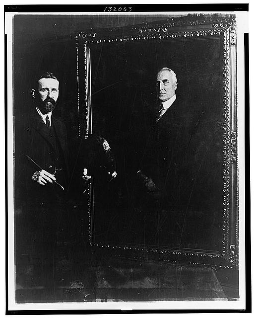 E. Hodgson Smart and his painting of Mr. Harding made from life