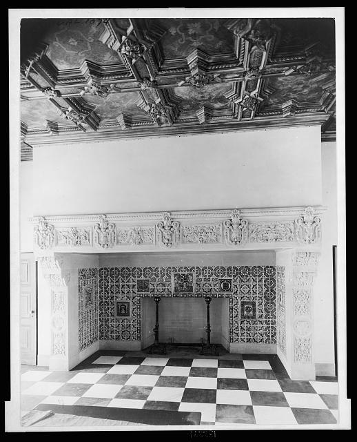 "[""Mi Sueño,"" Herbert Coppell house, 1245 South Grand Avenue, Pasadena, California. Fireplace]"