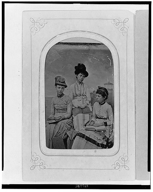 [Studio portrait of three women, one possibly Helen Herron]