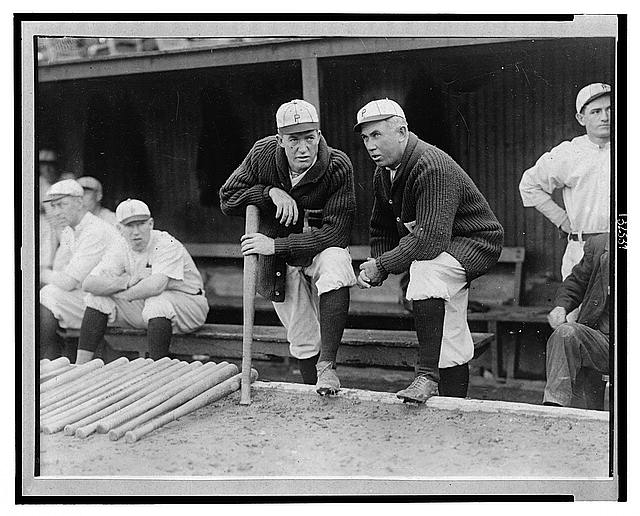 [Grover Cleveland Alexander & manager Pat Moran; in background are Joe Oeschger, Possum Whitted, & Milt Stock, Philadelphia NL (baseball)]
