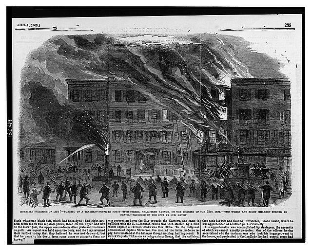 Terrible loss of life! Burning of a tenement-house in Forty-fifth Street, near Sixth Avenue, on the morning of the 28th inst. /