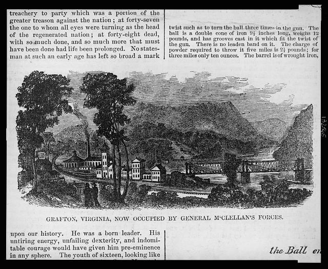 Grafton, Virginia, now occupied by General McClellan's forces