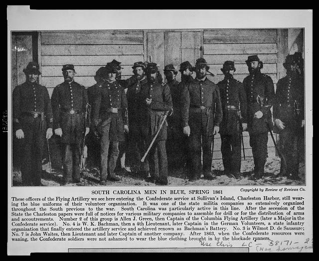South Carolina men in blue, spring 1861
