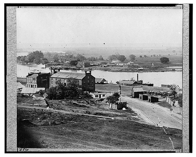 Views in Richmond, Virginia - view of Rocketts [Landing] and south side of James River from Libby Hill