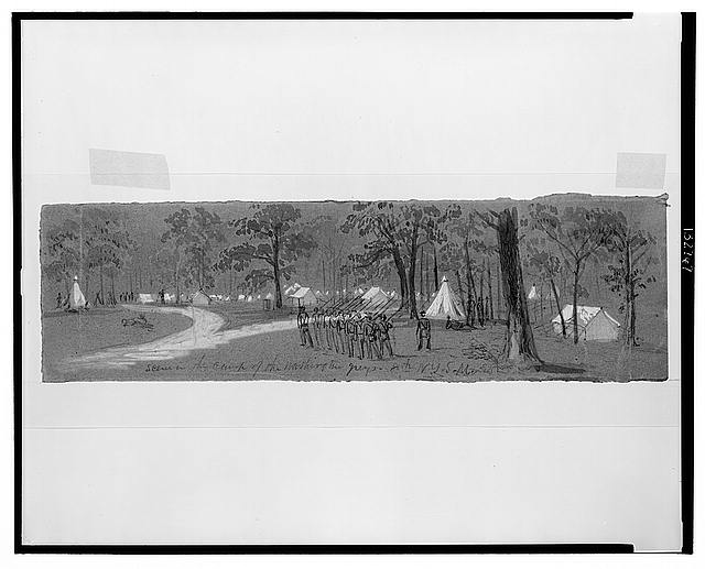Scene in the camp of the Washington Greys. 8th N.Y.S.M.