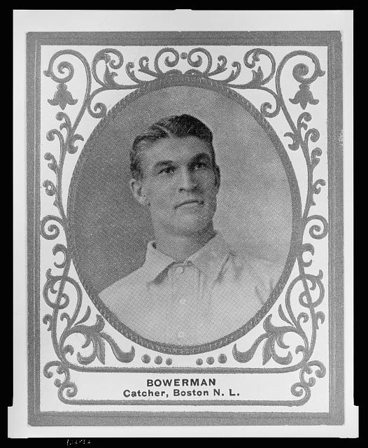 [Frank Bowerman, Boston Doves, baseball card portrait]