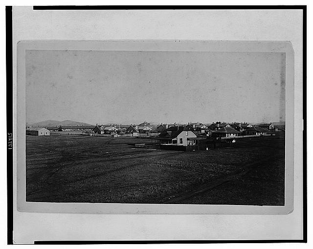 Fort Sill, I.T., Dec. 1889, from southeast