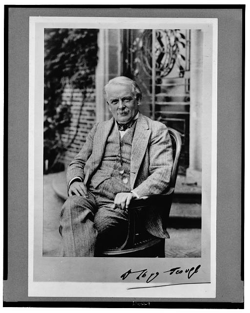 [David Lloyd George, three-quarter length portrait, seated, facing front]