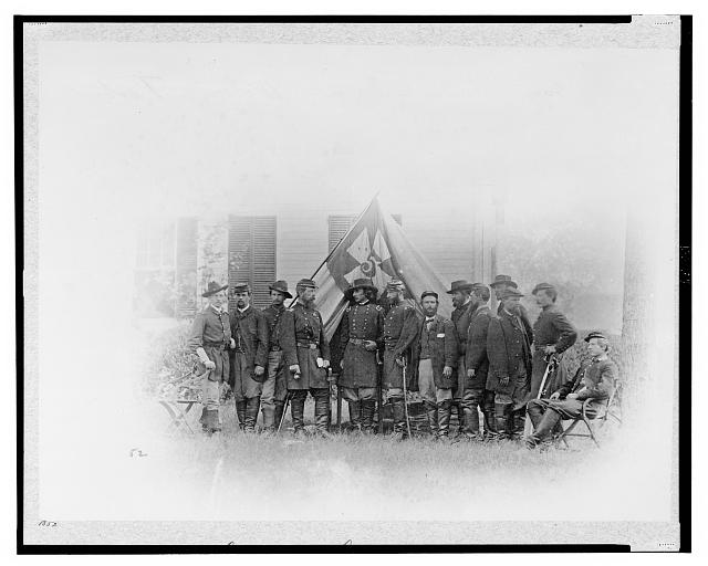 Major General G.K. Warren & staff at Petersburg