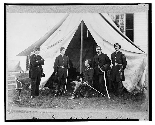 Major General A.A. Humphreys & staff