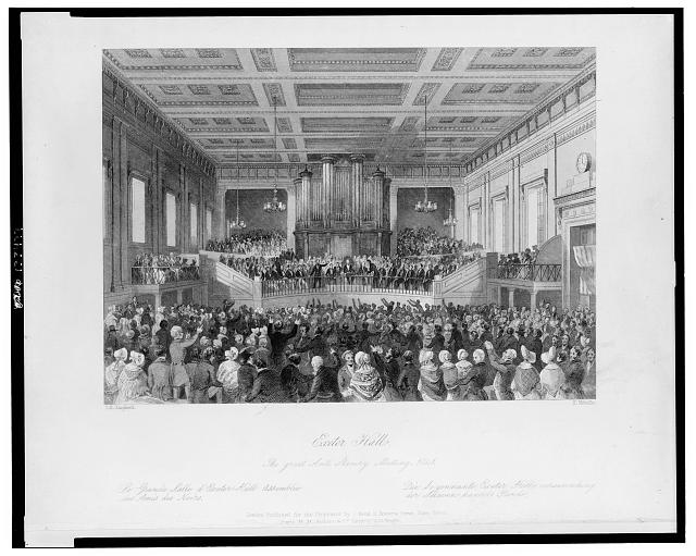 Exeter Hall, the great anti-slavery meeting, 1841