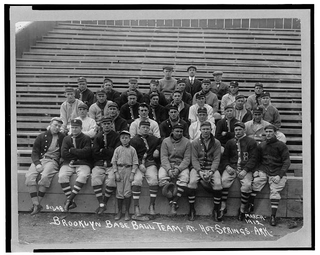 Brooklyn baseball team at Hot Springs, Ark., March, 1912