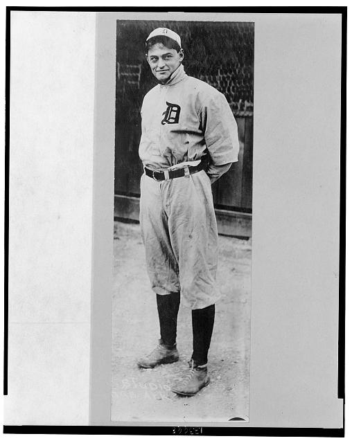 "[Charles ""Boss"" Schmidt, catcher for the Detroit Tigers, full-length, standing]"