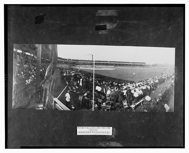 National League Park, Chicago, Cubs vs. Giants, Aug. 30, 1908