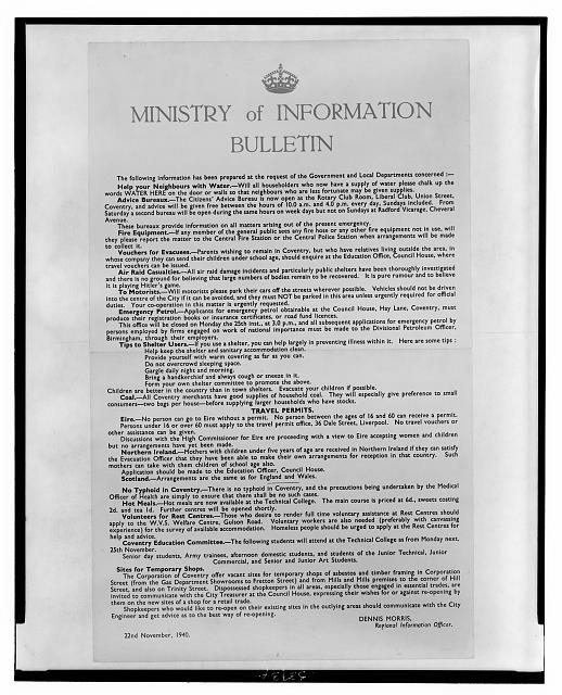 Ministry of Information bulletin