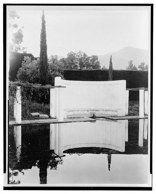 "[""El Fureidis,"" James Waldron Gillespie house, Parra Grande Lane, Montecito, California. Reservoir]"