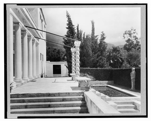 Entrance to the home of J.W. Gillespie, El Fureides, Santa Barbara, California