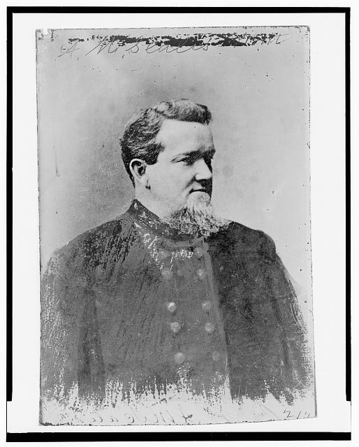 [A. M. Scales, Brigidier General, C.S.A., half-length portrait, facing right]
