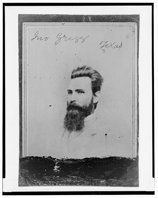 [John Gregg, Brigadier General, C.S.A., head-and-shoulders portrait, facing left]