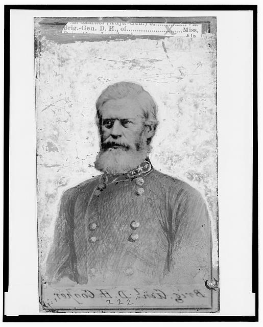 [Douglas Hancock Cooper, Brigadier General, C.S.A., half-length portrait, in uniform, facing left]