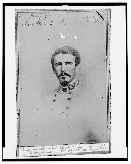 [Micah Jenkins, Brigadier General, C.S.A., head-and-shoulders portrait, in uniform, facing front]