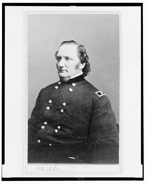 [General Josiah Miller, Inspector General, half-length portrait, seated, facing left]