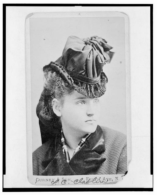 [Tennessee Claflin, Lady Cook, head-and-shoulders portrait, facing right]