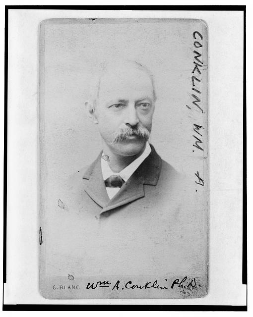[Dr. William A. Conklin, zoologist, head-and-shoulders portrait, facing right]