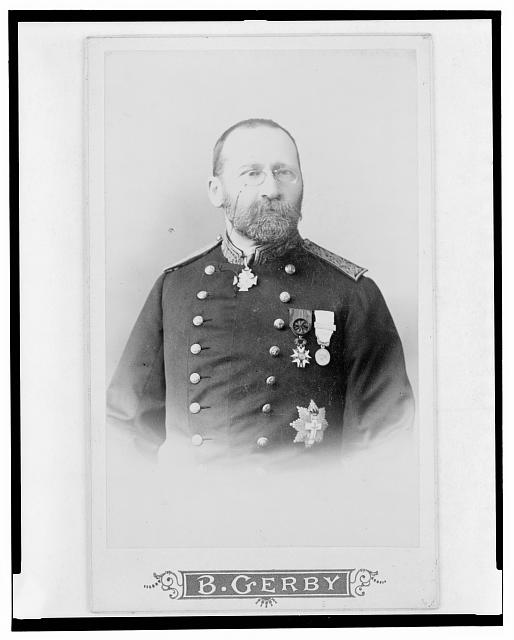 [Dr. Jules Fontan, half-length portrait, in uniform, facing slightly right]
