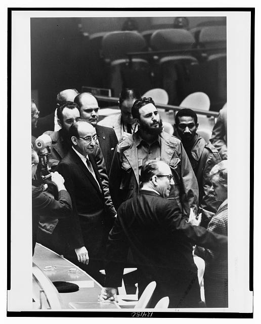 [Fidel Castro, president of Cuba, at a meeting of the United Nations General Assembly]