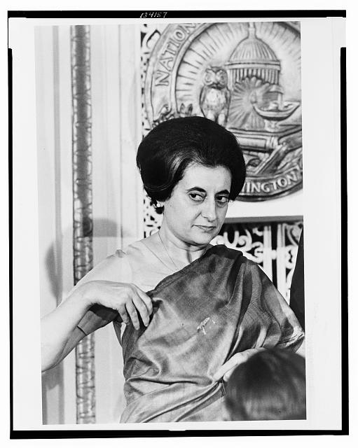 [Prime Minister Indira Gandhi of India at the National Press Club, Washington, D.C.]