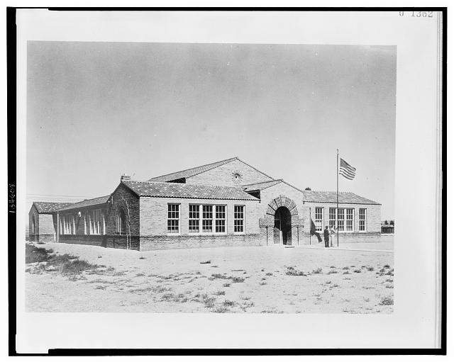 School building, Parco, Wyoming