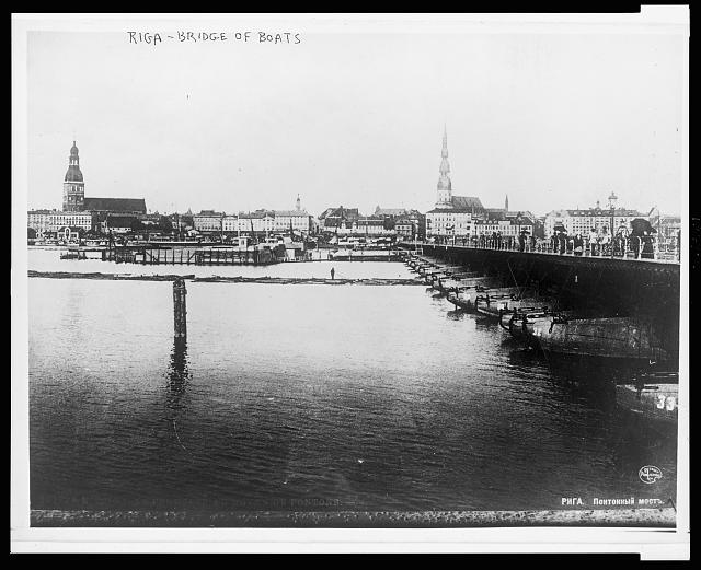 Riga - bridge of boats